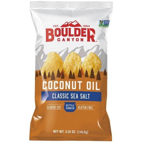 Boulder Canyon Sea Salt Kettle Cooked Coconut Oil Potato Chips - 5.25oz - image 1 of 1