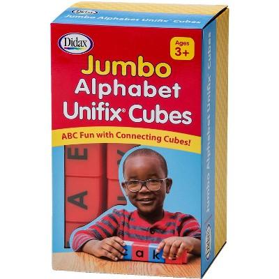 Didax Jumbo Unifix Alphabet Cubes, set of 30