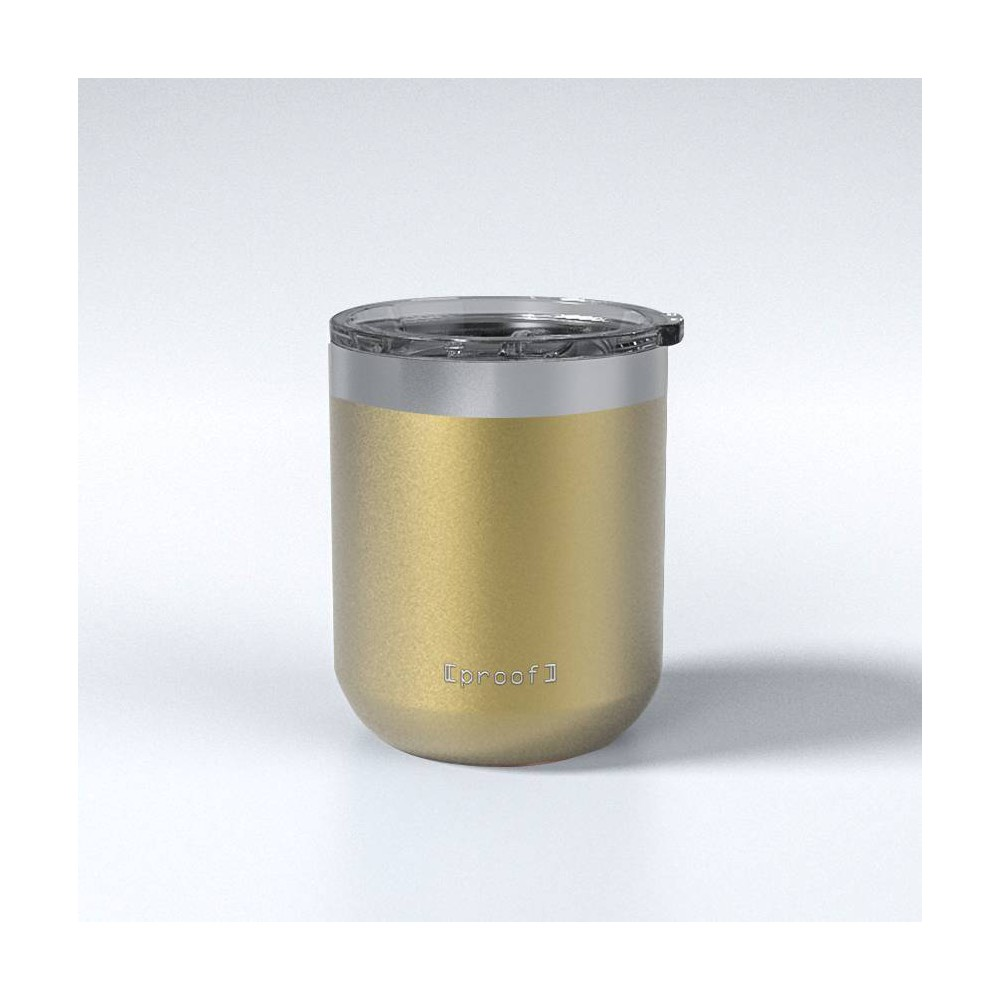 Image of Proof 12oz Stainless Steel Travel Mug Gold