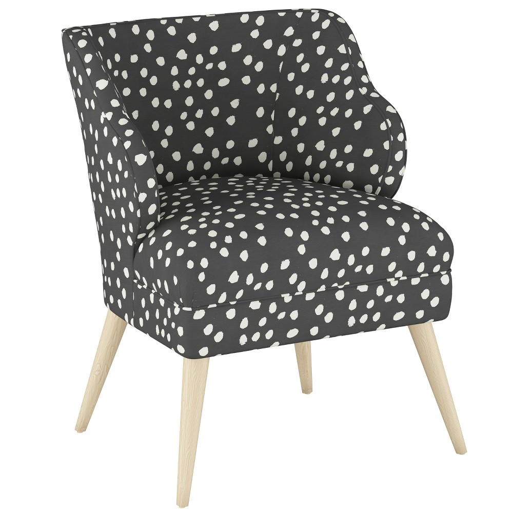 Mandolene Mid Century Arm Chair Scribble Dot Dark Gray - Project 62