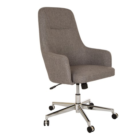 MidCentury Modern Fabric Gaslift Adjustable Swivel Office Chair Gray - Glitzhome - image 1 of 12