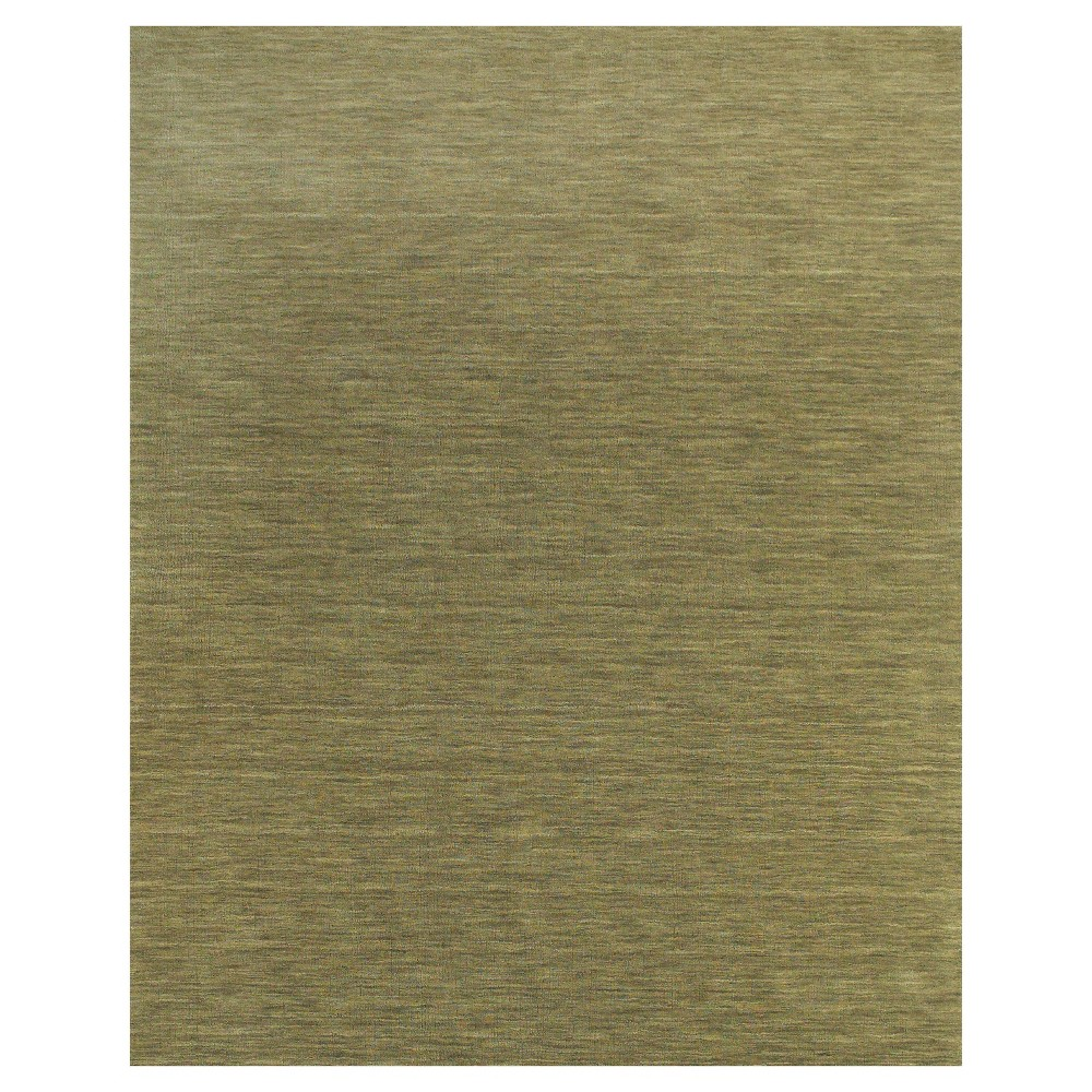 8'X11' Solid Woven Area Rugs Light Green - Room Envy