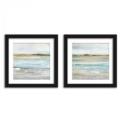 Americanflat Coastal Views - Set of 2 Framed Prints by PI Creative