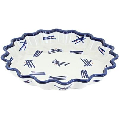 Blue Rose Polish Pottery Zoe Quiche Dish