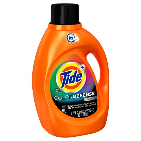 Tide Color Defense Fresh Scent HE Turbo Clean Liquid Laundry Detergent - 92 fl oz, 59ld - image 1 of 2