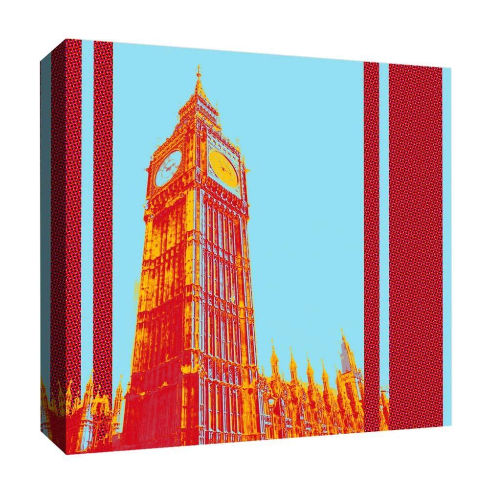 "Image of ""Big Ben 16x16 Decorative Canvas Wall Art 16""""x16"""" - PTM Images"""