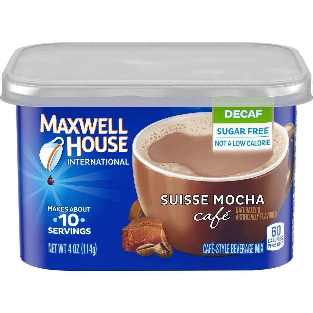 Maxwell House International Caf 233 Espresso Roast Suisse Mocha Beverage Mix Decaf 4oz