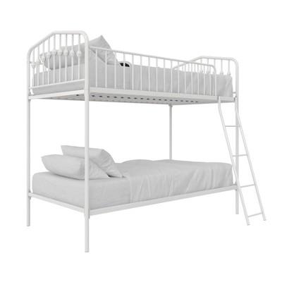 Twin/Twin Kids' Bushwick Metal Bunk Bed White- Novogratz
