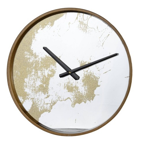 Echo Dust Wall Clock Gold - A&B Home - image 1 of 1