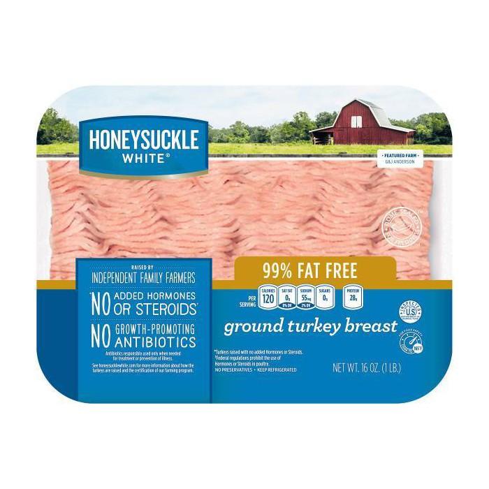 Honeysuckle White Fresh 99% Lean Ground Turkey Breast - 1lb - image 1 of 1