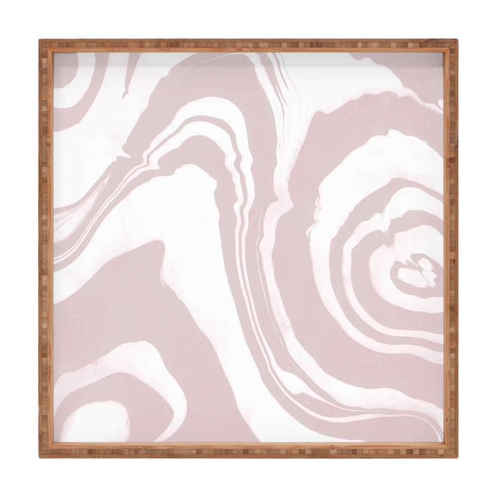 Susanne Kasielke Structure Pink Tray 16 Deny Designs