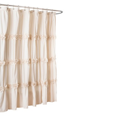 Lush Décor Darla Horiz Texture Shower Curtain