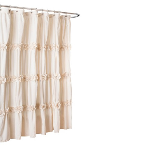 Lush Décor Darla Horiz Texture Shower Curtain - image 1 of 1