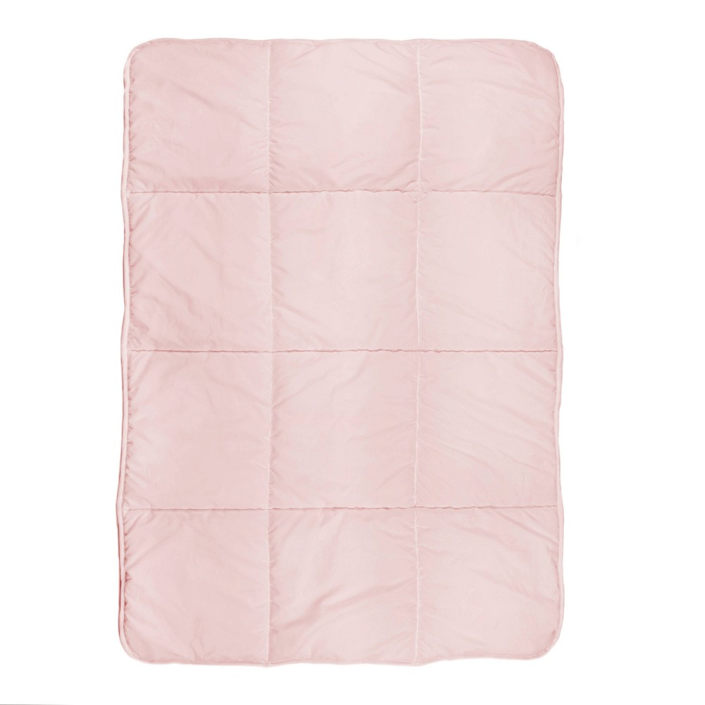 Image of Tadpoles Quilted Toddler Comforter Box Pattern - Pink