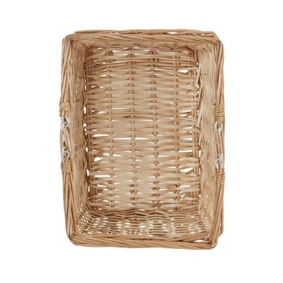 Household Essentials Open Top Market Basket with Handles Natural