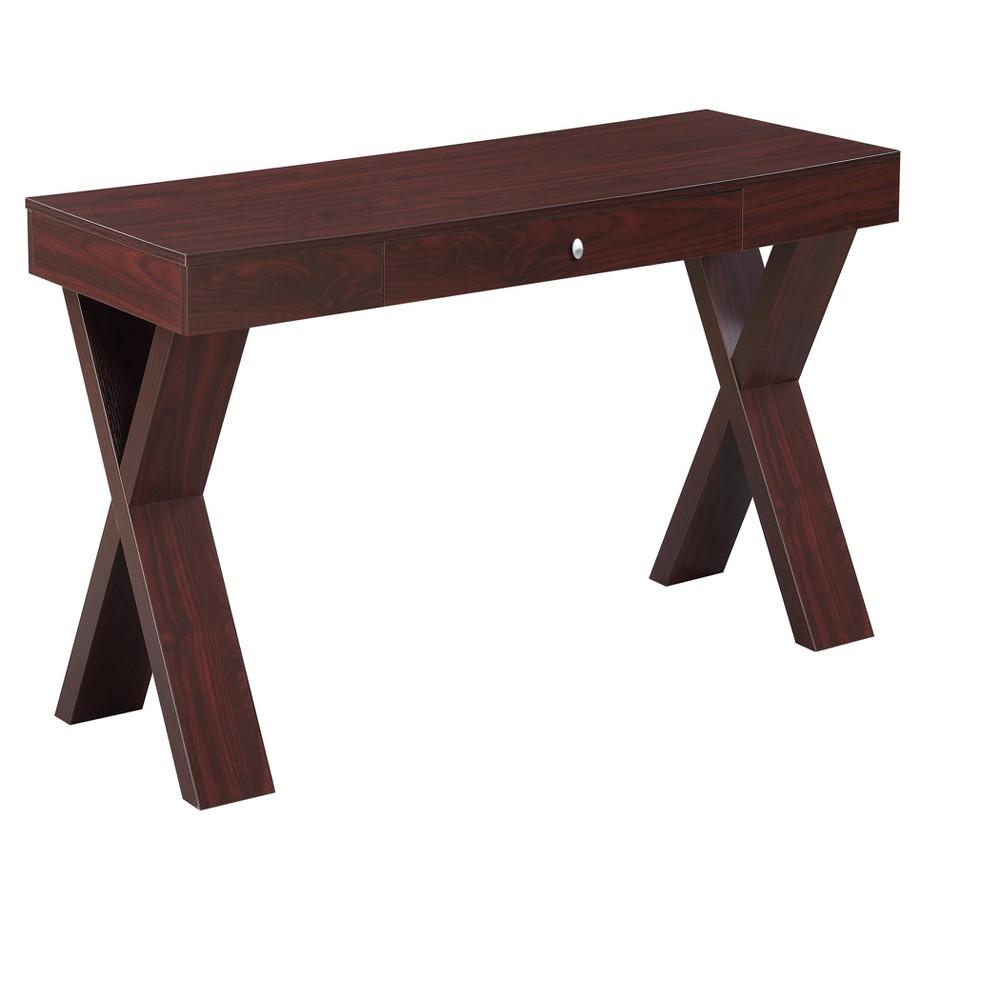 Newport Desk with Drawer - Mahogany (Brown) - Johar Furniture