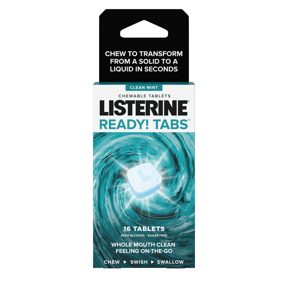 Image of Listerine Ready Clean Mint Flavor Chewable Tablets - 16ct