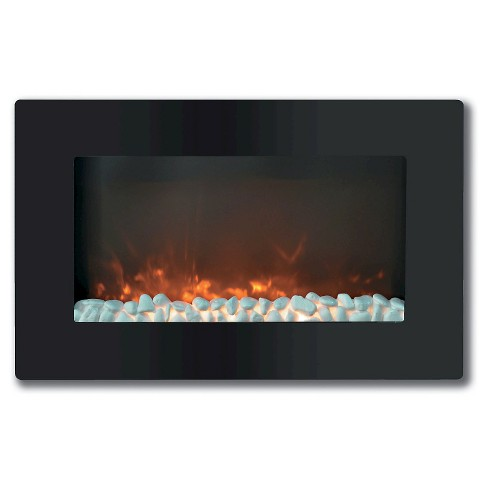 "Cambridge CAM30WMEF-1BLK Callisto 30"" Wall-Mount Electronic Fireplace with Flat Panel and Crystal Rocks - image 1 of 2"