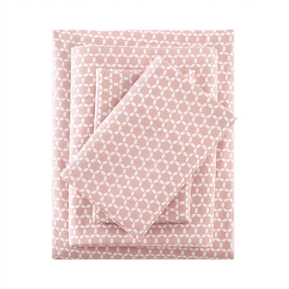 Image of 3M Microcell Print Sheet Set (California King) Blush