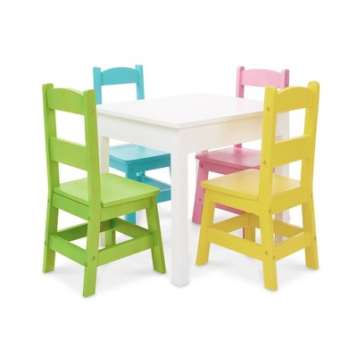 Melissa & Doug Table & 4 Chairs - Pastel