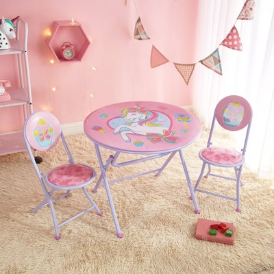 3pc JoJo Siwa Unicorn Round Table and Chair Set