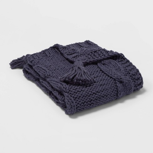 Chunky Cable Knit Throw Blanket - Threshold™ - image 1 of 1