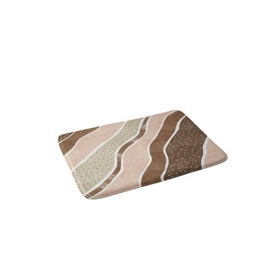 Marta Barragan Camarasa Abstract Dune Strokes Memory Foam Bath Mat Brown - Deny Designs