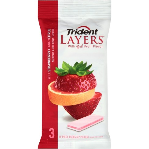 Trident Layers Wild Strawberry & Tangy Citrus Sugar Free Gum - 3.6oz - image 1 of 1