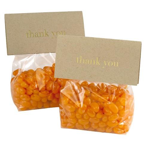 25ct Gold Kraft Wedding Favor Bag Kits Target