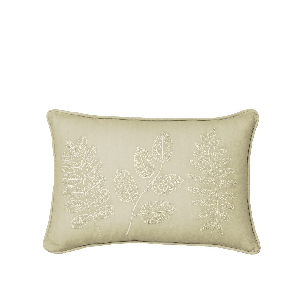 Image of Leaf Laurel Embroidered Lumbar Pillow - Beautyrest