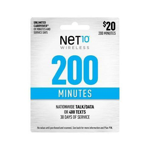 Net10 Wireless Add-On Minutes Prepaid Card (Email Delivery) - image 1 of 1