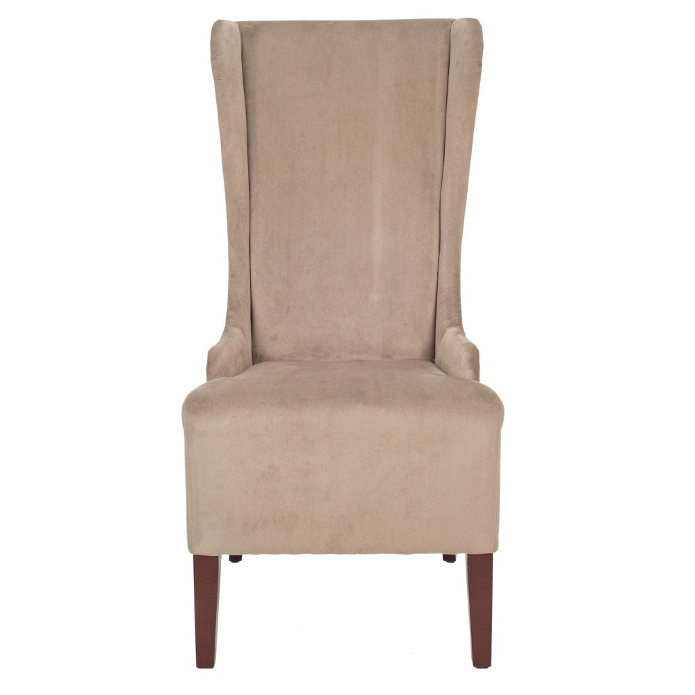 Bacall Dining Chair Wood/Beige - Safavieh