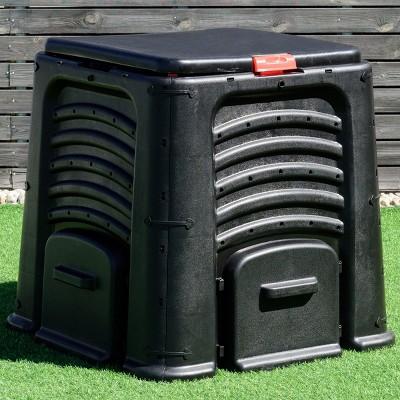 Costway Compost Bin 105 Gallon Garden Waste Bin Grass Food Trash Barrel Fertilizer
