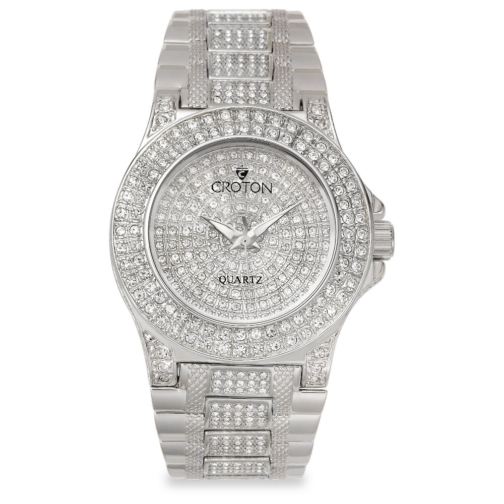 Croton Wristwatch Brass - Silver, Girl's, Medium Silver