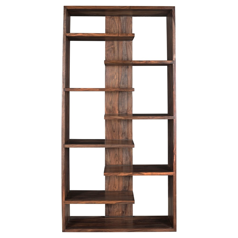 "Image of ""70"""" Brownstone Floating Shelf Bookcase Nut Brown - Treasure Trove"""