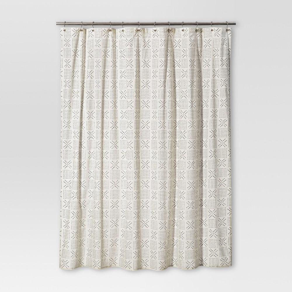 Shapes Shower Curtain Sour Cream - Threshold