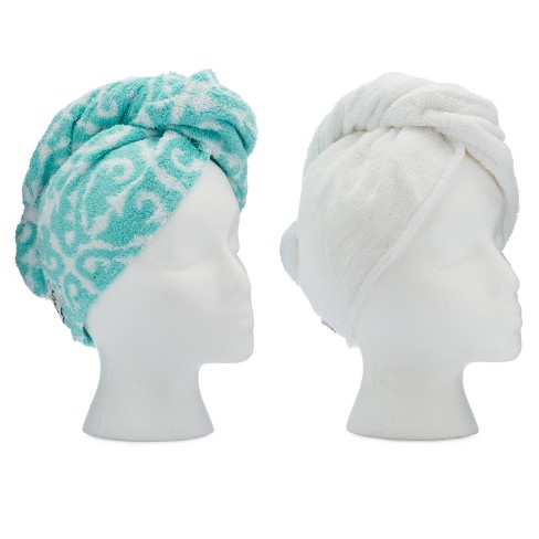 Turbie Twist Cotton Hair Towel - 2pk - image 1 of 2