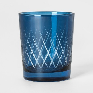 11oz Double Old-Fashioned Glass Blue - Threshold™