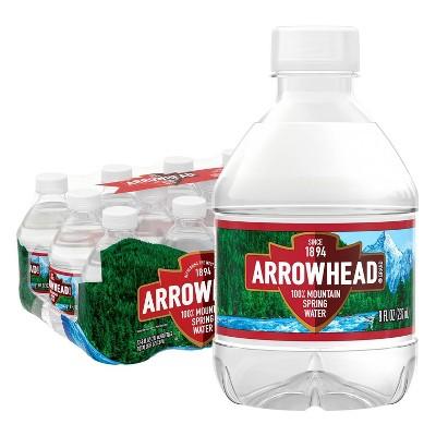 Arrowhead Brand 100% Mountain Spring Water - 12pk/8 fl oz Mini Bottles