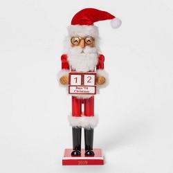 "14.5"" x 3.7"" Countdown Santa Claus Nutcracker - Wondershop™"