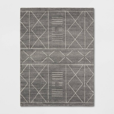 "9'2""x12' Marina Modern Geometric Rug Gray - Project 62™"