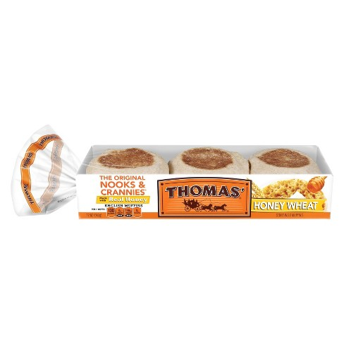 Thomas' Honey Wheat English Muffins - 8ct 12oz - image 1 of 1