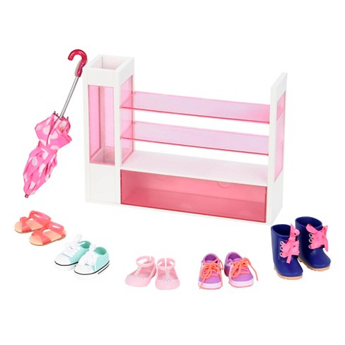 Our Generation Shoe Rack Accessory Set Target