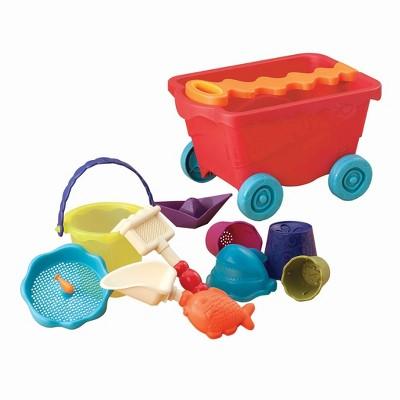 B. toys Wagon & Beach Playset - Wavy-Wagon Red
