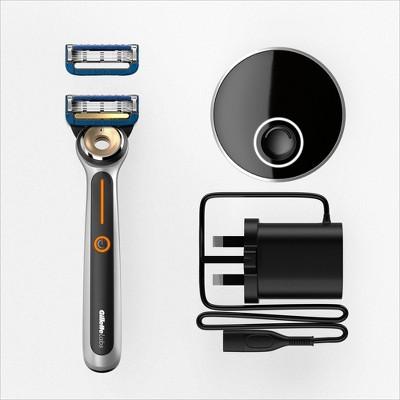 Gillette Labs Heated Razor Starter Kit - Includes Heated Razor + 2 Razor Blade Cartridges & Charging Dock