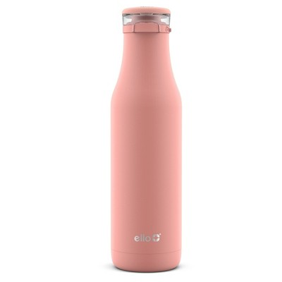 Ello Roscoe 18oz Stainless Steel Water Bottle with Stickers Peach
