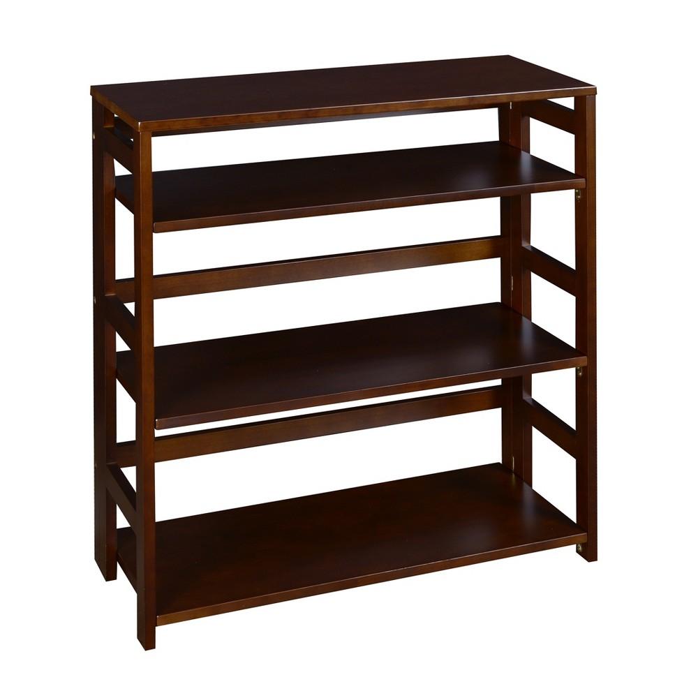 "Image of ""Flip Flop 28"""" High Deskside Folding Bookcase Mocha Walnut - Niche, Brown"""