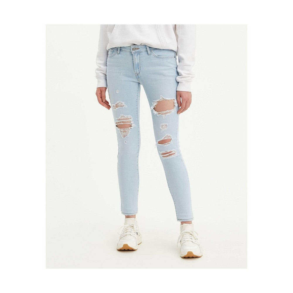 Levi 39 S 174 Women 39 S 711 8482 Mid Rise Skinny Jeans White Indigo 29