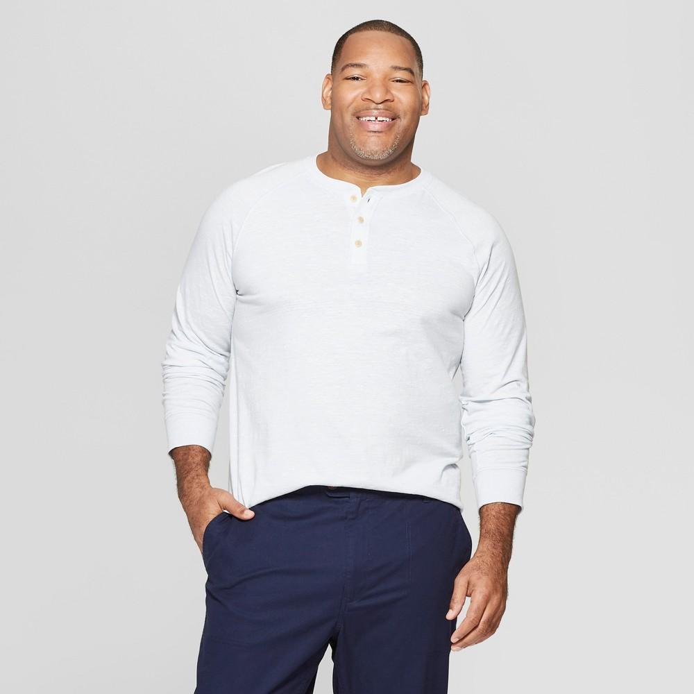 Men's Tall Regular Fit Long Sleeve Jersey Henley Shirt - Goodfellow & Co Masonry Gray Xlt