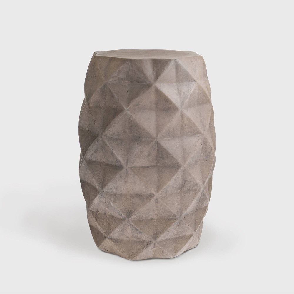 Katherine Concrete Patio Accent Table - Gray - Leisure Made